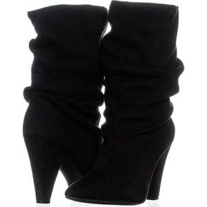 New By Carlos Santana Black Elouise Slouch Boots